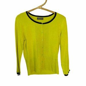 Jacqui E Size Small Lime Green Cardigan Jumper Business Corporate Work